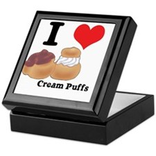 I Heart (Love) Cream Puffs Keepsake Box