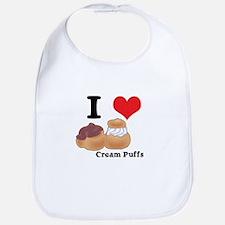 I Heart (Love) Cream Puffs Bib