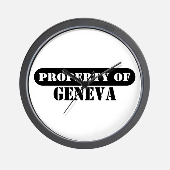 Property of Geneva Wall Clock