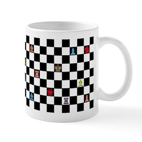 Mug - Colored chess symbols