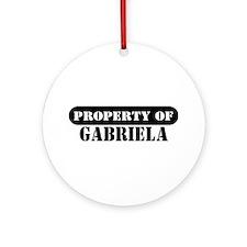 Property of Gabriela Ornament (Round)