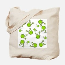 Little Green Frogs Tote Bag