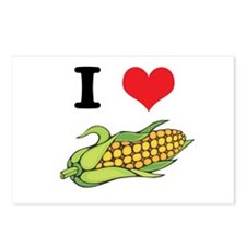 I Heart (Love) Corn (On the Cob) Postcards (Packag