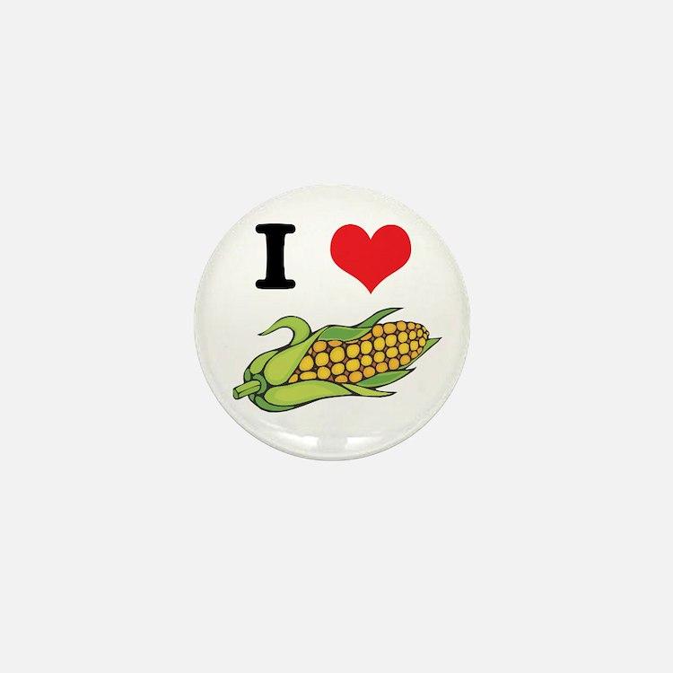 I Heart (Love) Corn (On the Cob) Mini Button