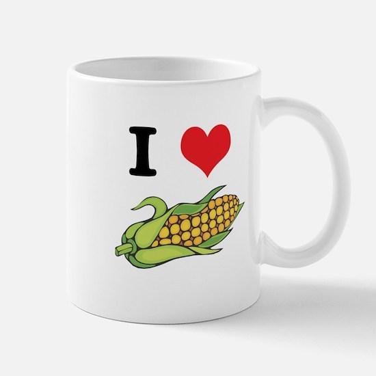 I Heart (Love) Corn (On the Cob) Mug