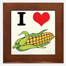 I Heart (Love) Corn (On the Cob) Framed Tile