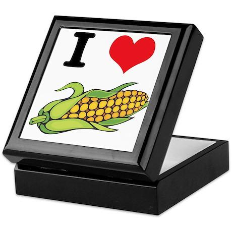 I Heart (Love) Corn (On the Cob) Keepsake Box