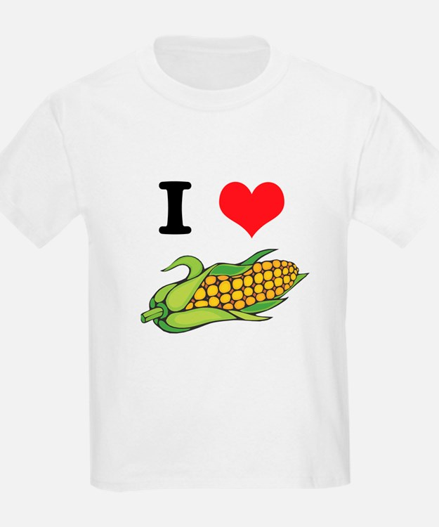 I Heart (Love) Corn (On the Cob) Kids T-Shirt