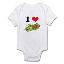 I Heart (Love) Corn (On the Cob) Infant Bodysuit
