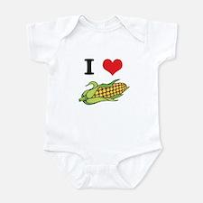 I Heart (Love) Corn (On the Cob) Infant Bodysuit