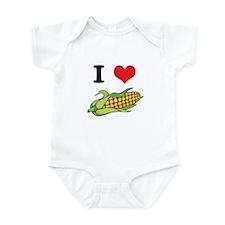 I Heart (Love) Corn (On the Cob) Onesie