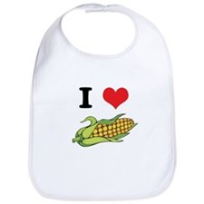 I Heart (Love) Corn (On the Cob) Bib