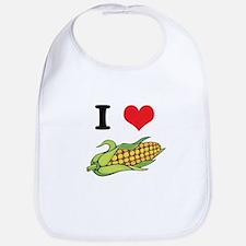 I Heart (Love) Corn (On the Cob) Bib