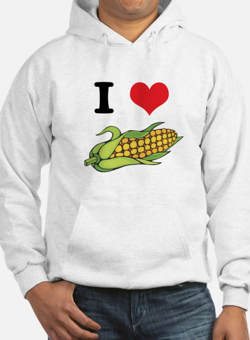 I Heart (Love) Corn (On the Cob) Hoodie