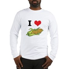 I Heart (Love) Corn (On the Cob) Long Sleeve T-Shi