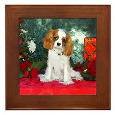 Cavalier King Charles Spaniel Christmas Framed Til