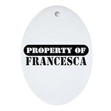 Property of Francesca Oval Ornament