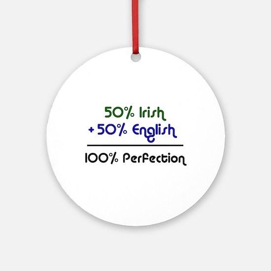 Irish & English  Ornament (Round)
