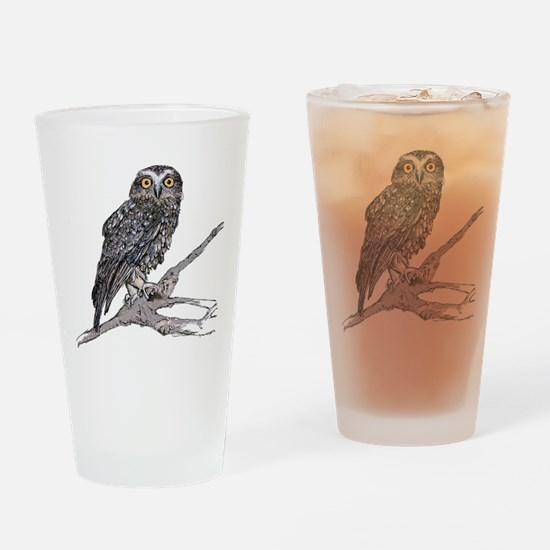 Boobook Owl Drinking Glass