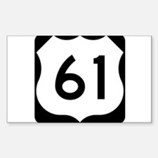 Highway 61 Rectangle Decal