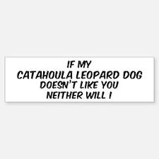 If my Catahoula Leopard Dog Bumper Car Car Sticker