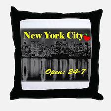 NYC 24-7 Throw Pillow