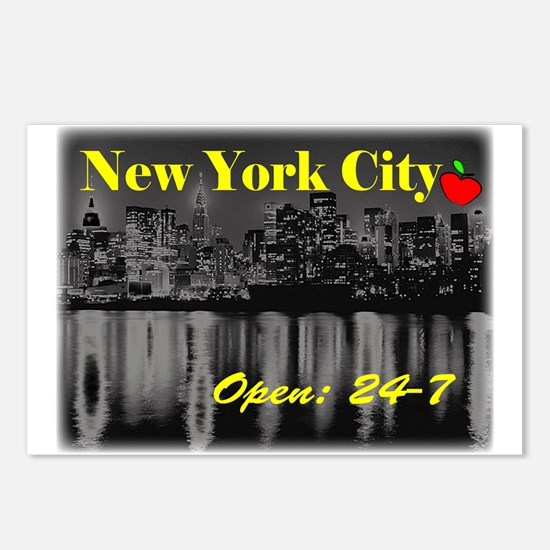 NYC 24-7 Postcards (Package of 8)