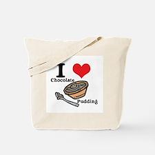 I Heart (Love) Chocolate Pudding Tote Bag