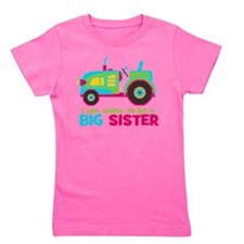 I am going to be a Big Sister - Tractor Girl's Tee