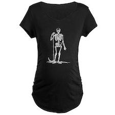 Skeleton Grim Reaper Maternity T-Shirt