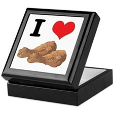 I Heart (Love) Chicken (Drumsticks) Keepsake Box