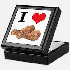 I Heart (Love) Chicken (Drumsticks) Keepsake Box