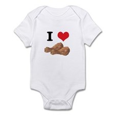 I Heart (Love) Chicken (Drumsticks) Infant Bodysui