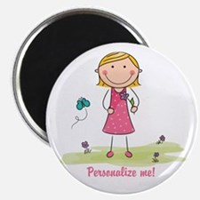 Cute girl - personalize Magnet