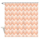 Peach chevron shower curtain Shower Curtains