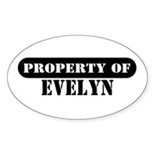 Property of Evelyn Oval Decal