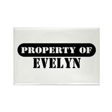 Property of Evelyn Rectangle Magnet