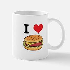I Heart (Love) Cheeseburgers Mug