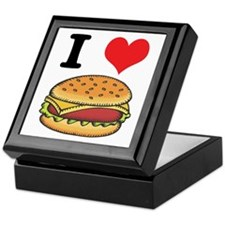 I Heart (Love) Cheeseburgers Keepsake Box