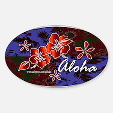 Aloha 2 Oval Decal
