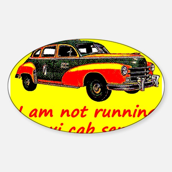 Taxi Cab Service Sticker (Oval)