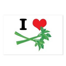 I Heart (Love) Celery Postcards (Package of 8)