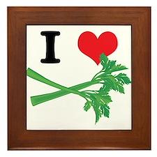 I Heart (Love) Celery Framed Tile