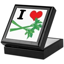 I Heart (Love) Celery Keepsake Box