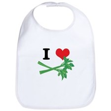 I Heart (Love) Celery Bib