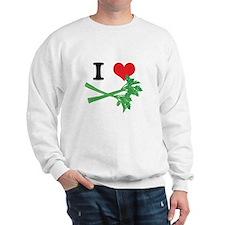 I Heart (Love) Celery Sweatshirt