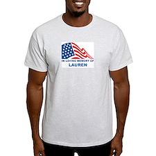 Loving Memory of Lauren Ash Grey T-Shirt