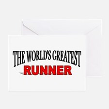 """""""The World's Greatest Runner"""" Greeting Cards (Pack"""