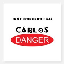 In My Other Life I Was Carlos Danger Square Car Ma