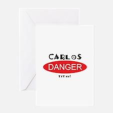 Carlos Danger Txt Me Greeting Card